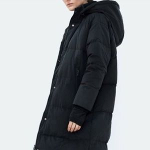NWT Zara Long Oversize Down Coat Puffer Jacket